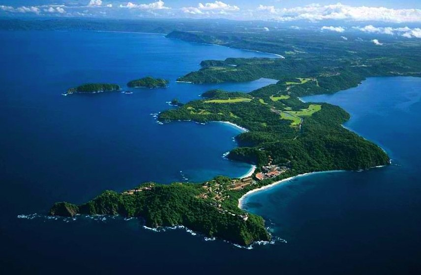 peninsula papagayo aerial view